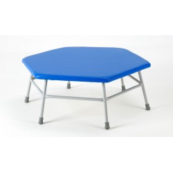 Hexagonal Movement Table 400mm high with blue top