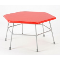 Hexagonal Movement Table 600mm high with Red top
