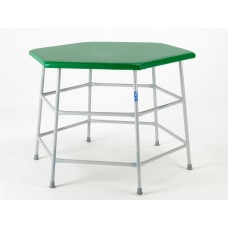Hexagonal Movement Table 840mm high with green top