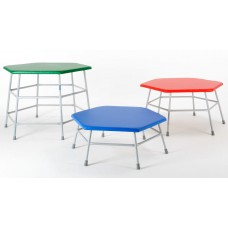 Hexagonal Movement Table 600mm high with blue top