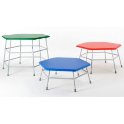 Hexagonal Movement Table 600mm high with green top