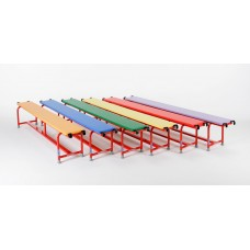 Upholstered Steel Balance Bench 1.5m long Set 6